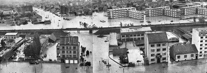 VELIKA POPLAVA 1964. ZAGREB