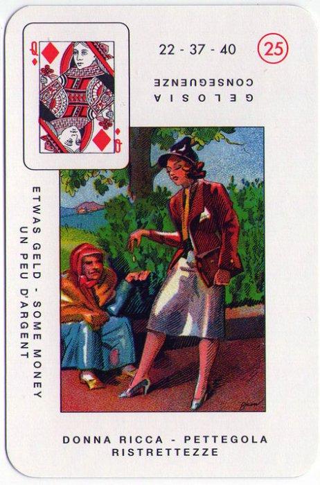 Velike Lenormandice - DAMA KARO (bogata žena, tračevi, ogovaranja)