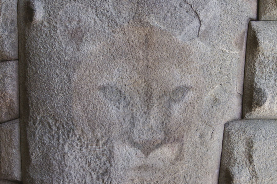 Sacsayhuaman – kamena pumina glava