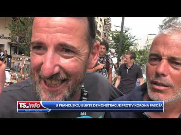 U FRANCUSKOJ BUKTE DEMONSTRACIJE PROTIV KORONA PASOŠA