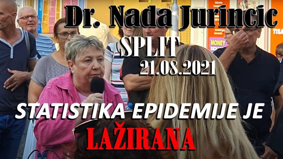 Poslušajte govor doktorice Nade Juriničić - Prosvjed Split 21.08.2021