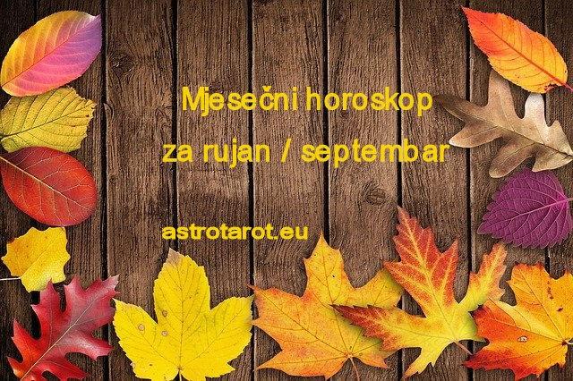 Mjesečni horoskop za rujan / septembar 2021