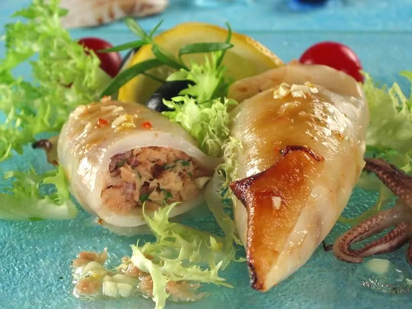 Prijedlozi za jesenji meni - Lignje nadjevene tunom