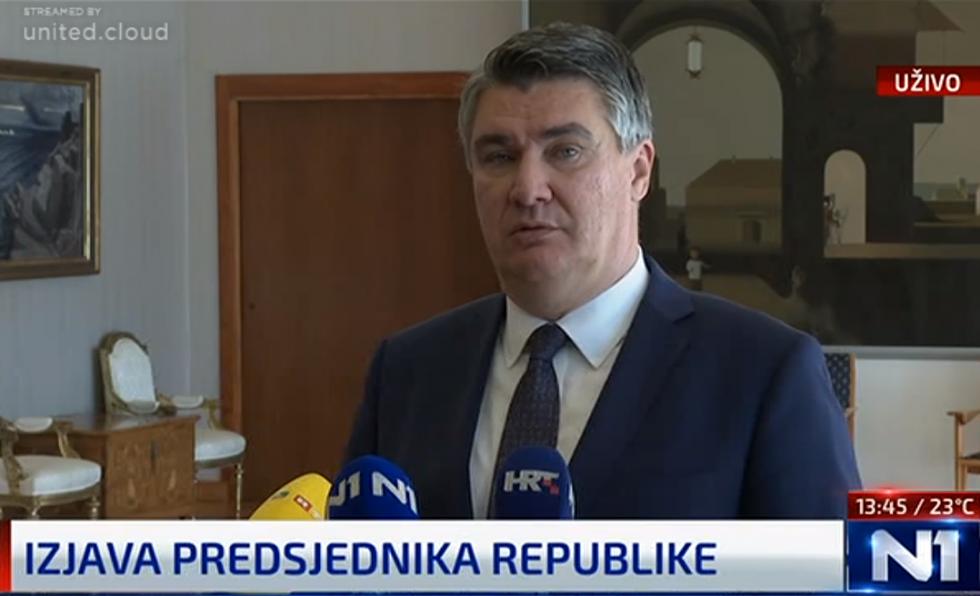 Izjava za medije predsjednika Zorana Milanovića o mjerama za suzbijanje pandemije