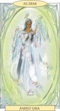 ANĐEOSKI TAROT:  AS ZRAK - Anđeo uma