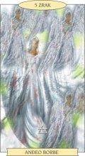 ANĐEOSKI TAROT:  5 ZRAK - Anđeo borbe