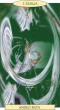 ANĐEOSKI TAROT:  5 ZEMLJA - Anđeo rata