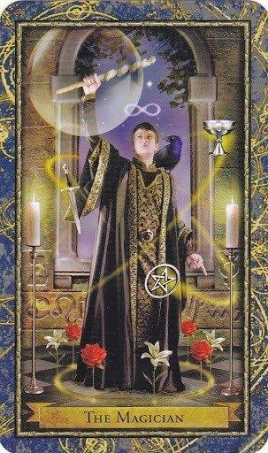 Čarobnjački tarot - MAĐIONIČAR (Mag, Opsjenar, Varalica, Ravnatelj špila, Čarobnjak, Čuvar magijskog jezika)