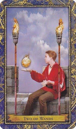 Čarobnjački tarot - 2 štapova (Snaga čuda)