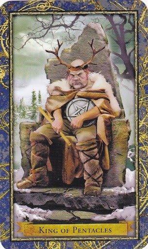 Čarobnjački tarot - Kralj diskova (Upravitelj Zemlje - briga, odgovornost)