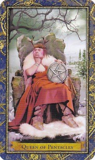 Čarobnjački tarot - Kraljica diskova (Čuvar zemlje - Strpljivost, upornost)
