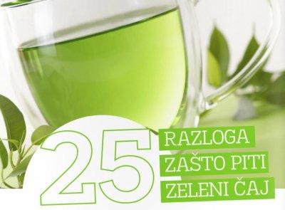 25 razloga zašto je dobro piti zeleni čaj