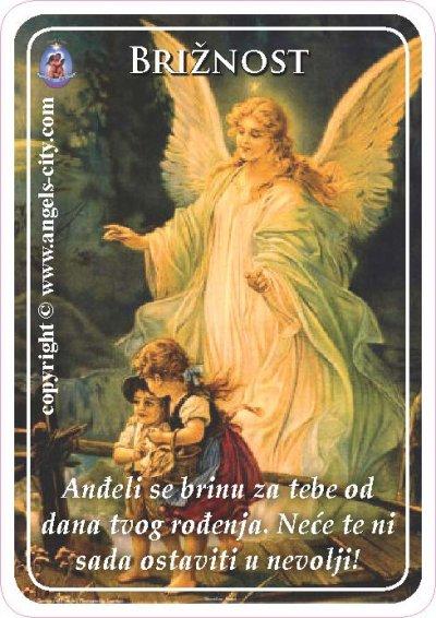 Anđeoski vodič: Anđeoske kartice - Brižnost