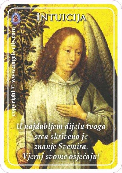 Anđeoski vodič: Anđeoske kartice - Intuicija