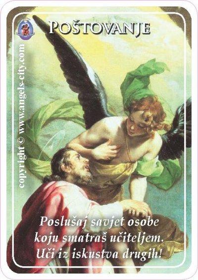 Anđeoski vodič: Anđeoske kartice - Poštovanje