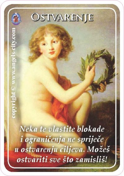Anđeoski vodič: Anđeoske kartice - Ostvarenje