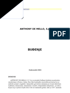 A. de Mello-Budjenje