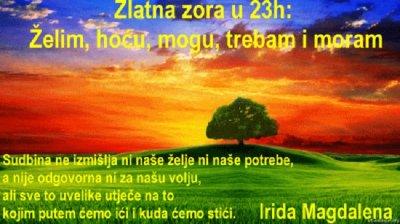 Zlatna zora u 23h: Želim, hoću, mogu, trebam i moram + pitaj Anđele + sretni brojevi
