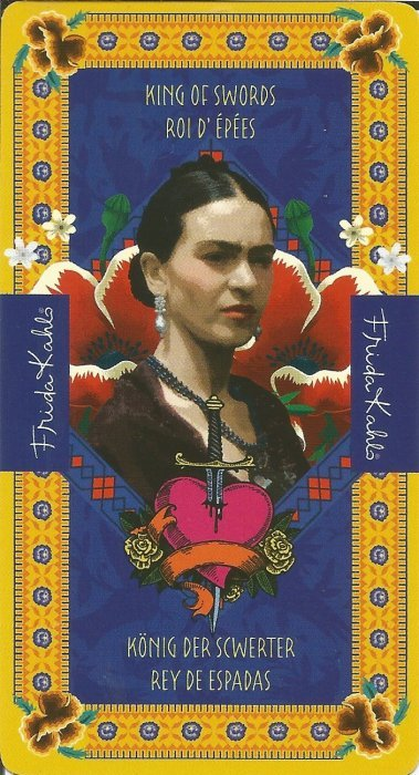 Frida Kahlo Tarot - MALE ARKANE - KRALJ MAČEVA