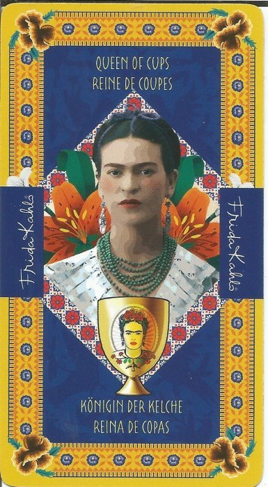 Frida Kahlo Tarot - MALE ARKANE - KRALJICA PEHARA