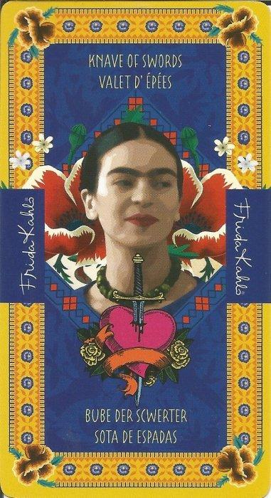 Frida Kahlo Tarot - MALE ARKANE - PAŽ MAČEVA