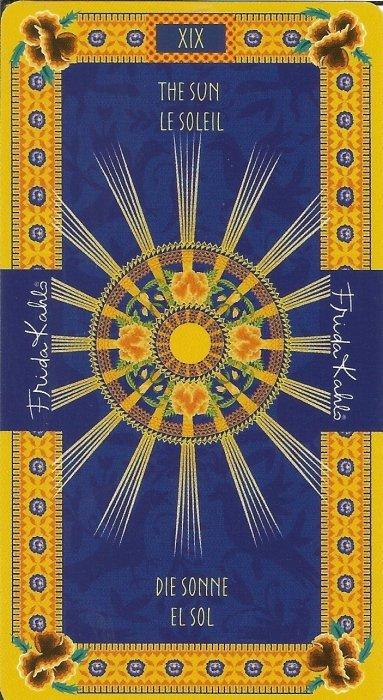 Frida Kahlo Tarot - VELIKE ARKANE - SUNCE