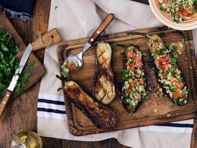 Vegetarijanska kuhinja - Melancani s rižom
